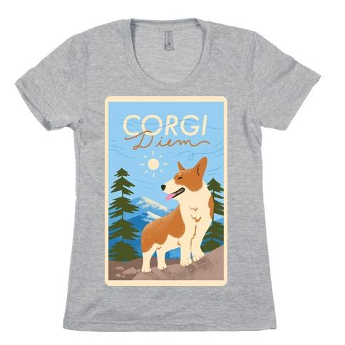 Corgi Diem Womens T-Shirt