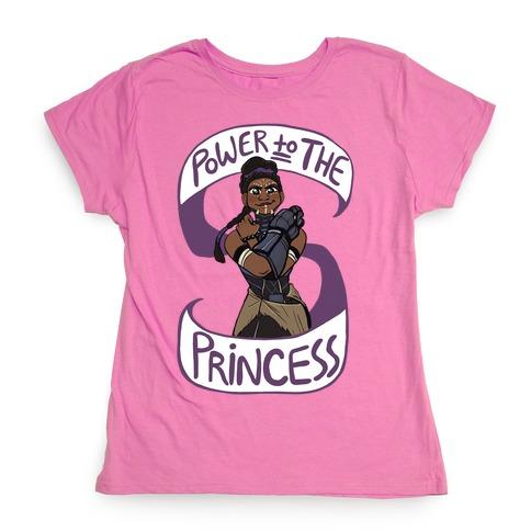 Power to the Princess Womens T-Shirt