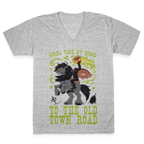 Gonna Take My Horse To The Old Town Road V-Neck Tee Shirt