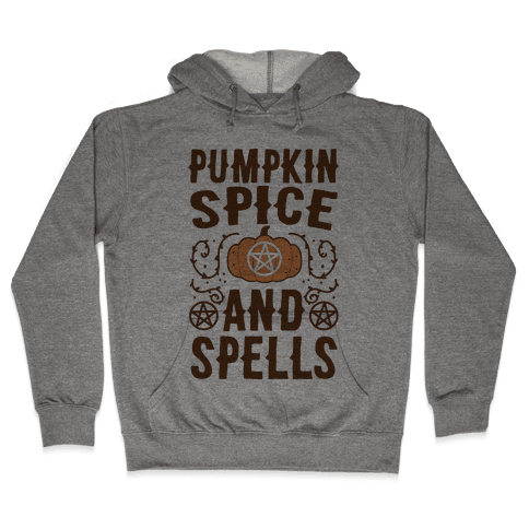 Pumpkin Spice and Spells Hooded Sweatshirt
