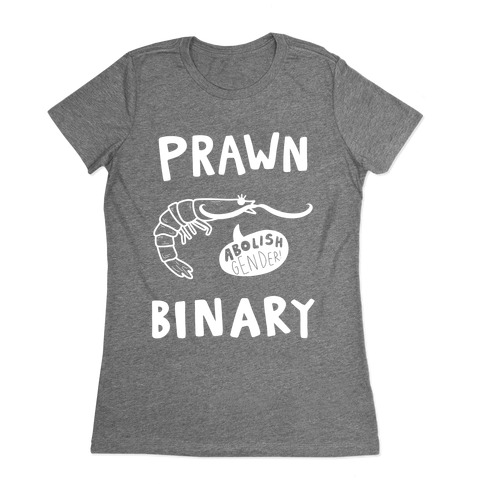 Prawn-Binary Womens T-Shirt