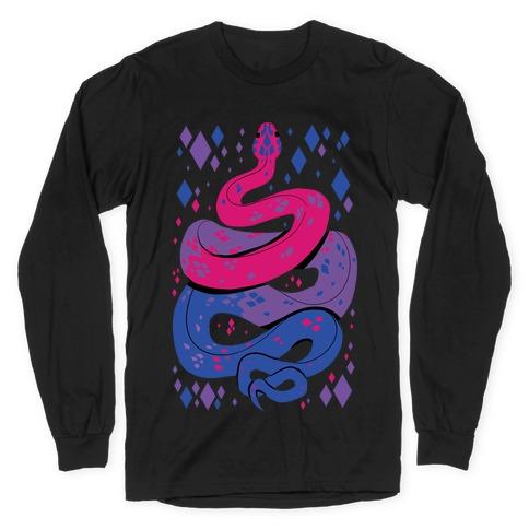 Pride Snakes: bi Long Sleeve T-Shirt