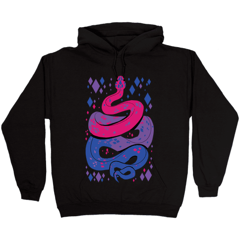 Pride Snakes: bi Hooded Sweatshirt