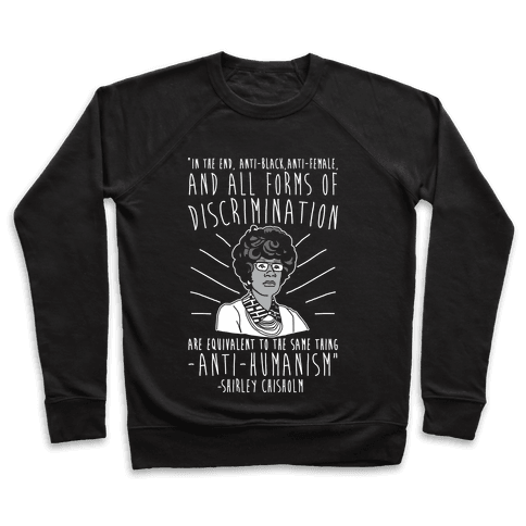 Shirley Chisholm White Print Pullover