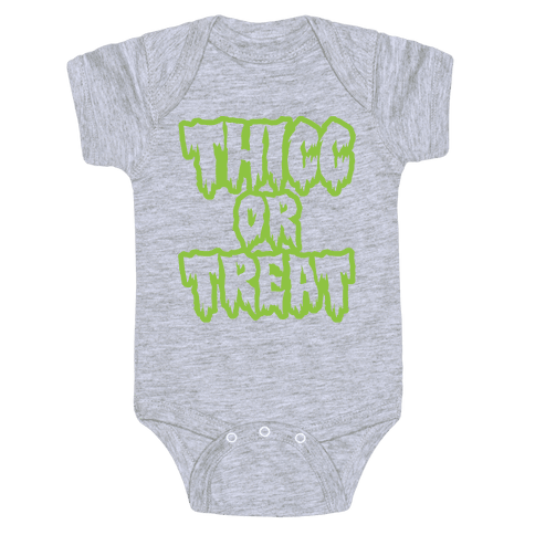 Thicc Or Treat White Print Baby Onesy