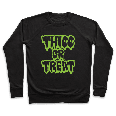 Thicc Or Treat White Print Pullover