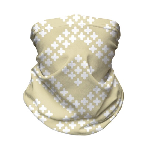 Little Cross Pattern Cream Neck Gaiter