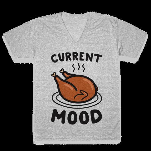 Current Mood Turkey V-Neck Tee Shirt