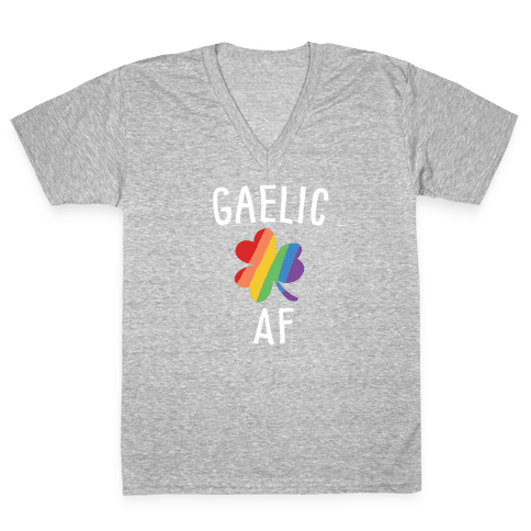 Gaelic AF V-Neck Tee Shirt