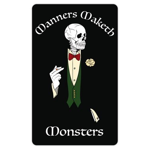 Manners Maketh Monsters Die Cut Sticker