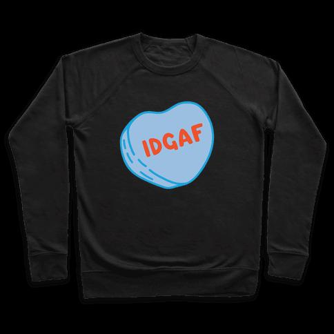 IDGAF Conversation Heart Parody White Print