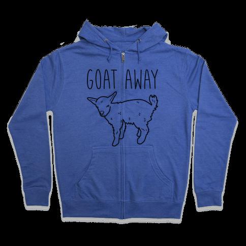 Goat Away Zip Hoodie