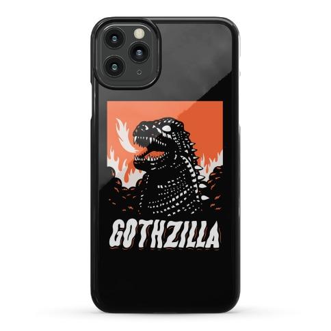 Gothzilla Goth Godzilla Phone Case