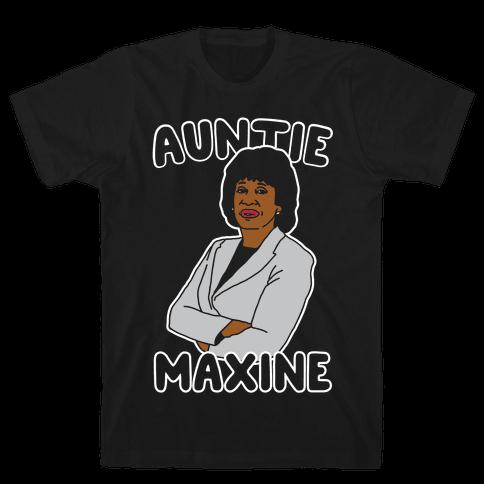 Auntie Maxine White Print Mens T-Shirt