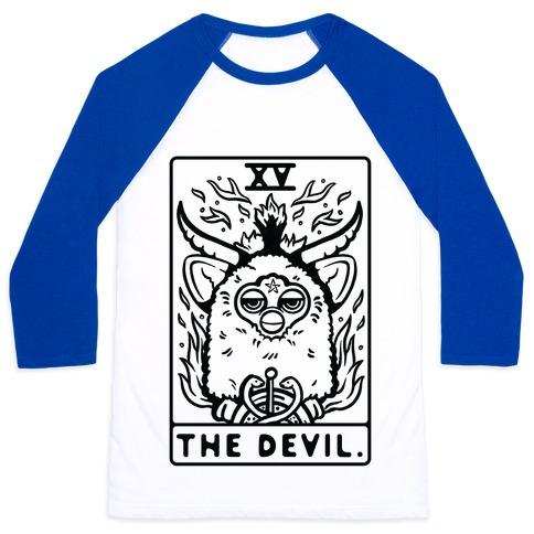 The Devil Tarot Card Furby Baseball Tee