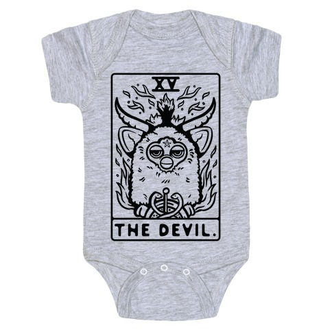 The Devil Tarot Card Furby Baby Onesy