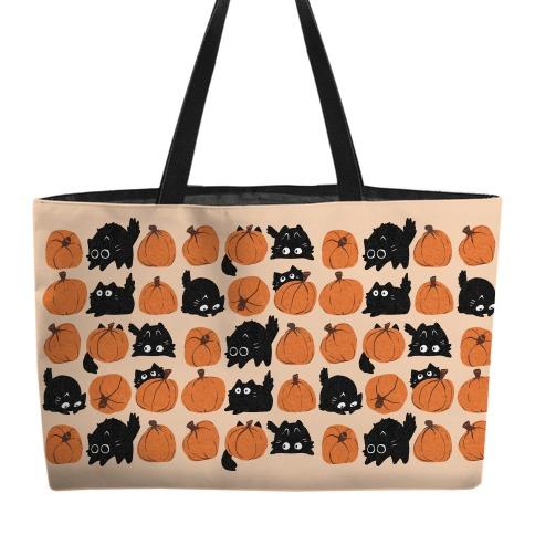 Pumpkin Cats Weekender Tote