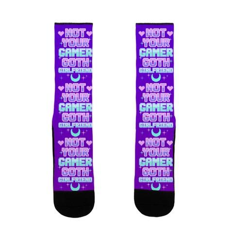 Not Your Gamer Goth Girlfriend Sock