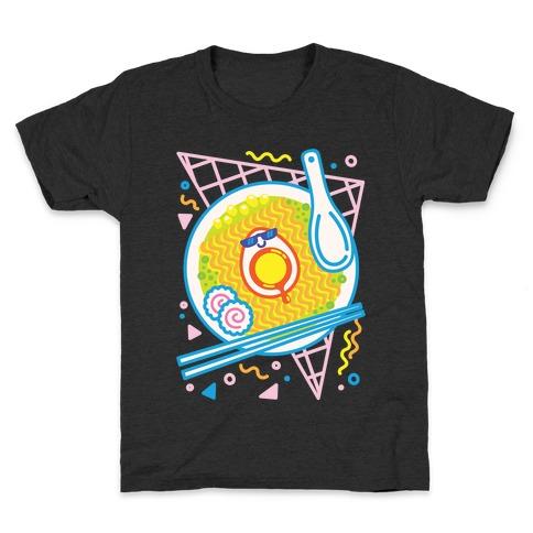 Rad-men (Rad Ramen) White Print Kids T-Shirt