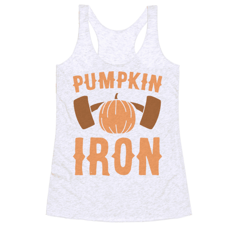 Pumpkin Iron Racerback Tank Top