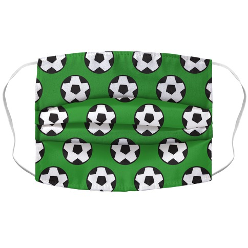 Soccer Pattern Accordion Face Mask