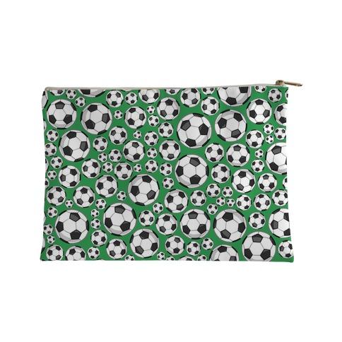 Soccer Balls Pattern Accessory Bag