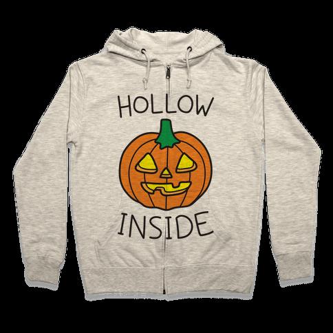 Hollow Inside Zip Hoodie