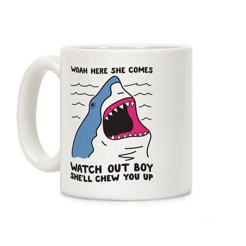 Maneater Shark Coffee Mug