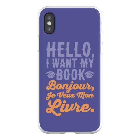 Hello I Want My Book Parody Phone Flexi-Case
