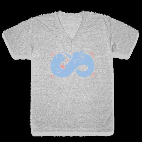 Infinity Otter V-Neck Tee Shirt