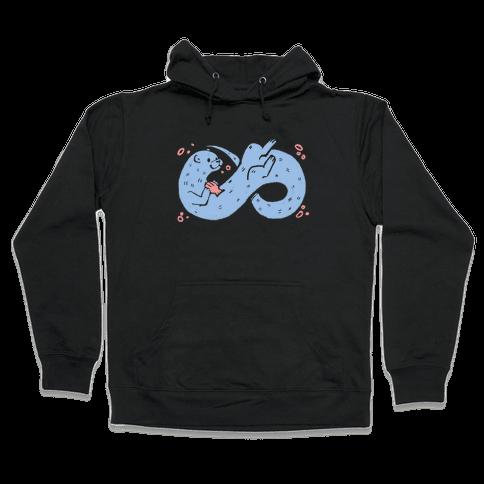Infinity Otter  Hooded Sweatshirt