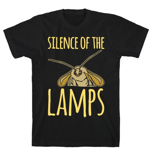 Silence of The Lamps Moth Parody White Print T-Shirt