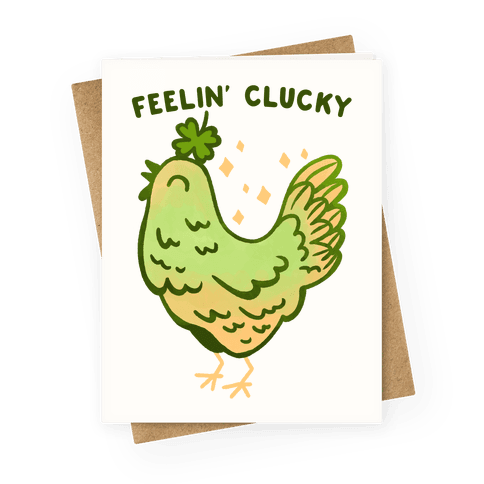 Feelin' Clucky St. Patrick's Day Chicken Greeting Card
