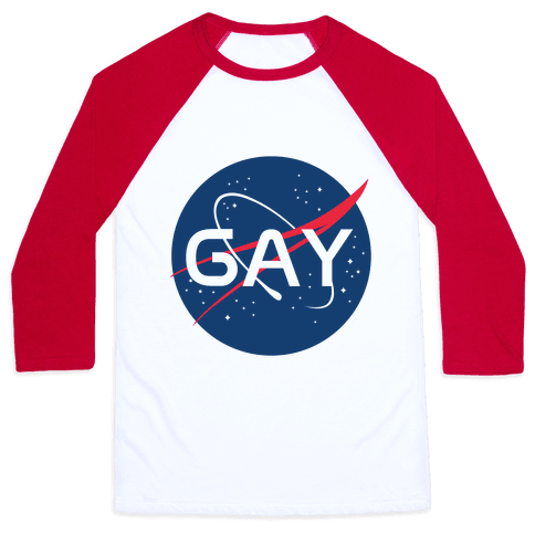 Gay Nasa Parody Baseball Tee