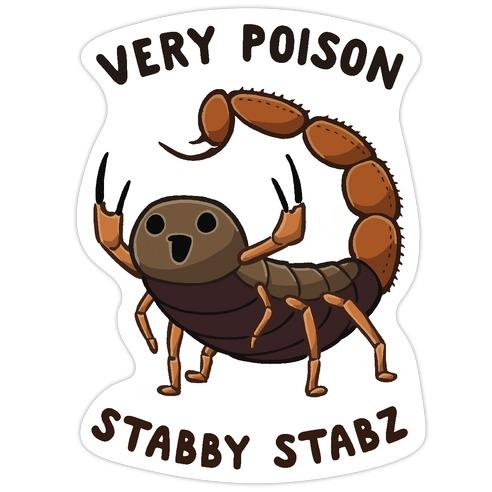 Very Poison Stabby Stabz Die Cut Sticker