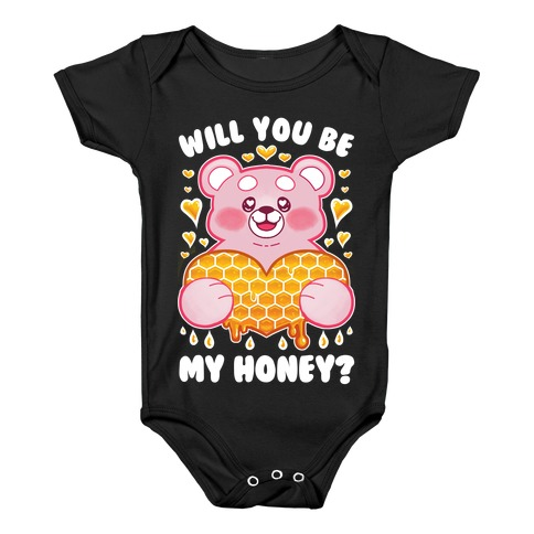 Will You Be My Honey? Baby Onesy