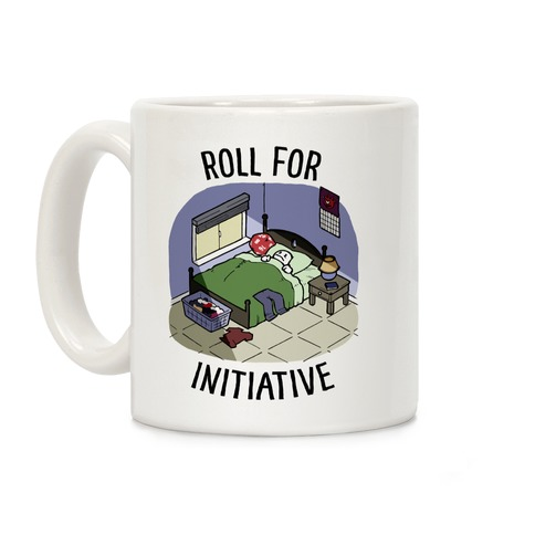 Roll For Initiative To Get Out Of Bed Coffee Mug