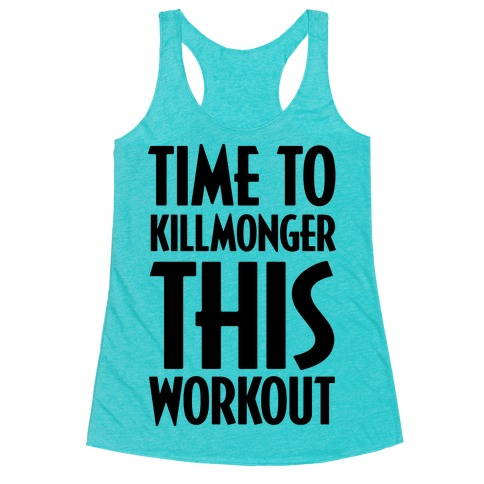 Time To Killmonger This Workout Racerback Tank Top