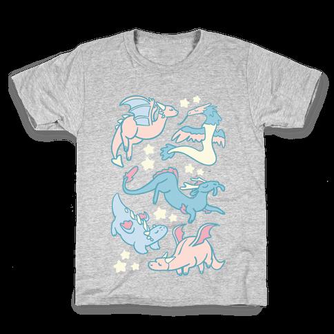 Dreamy Dragon Pattern Kids T-Shirt