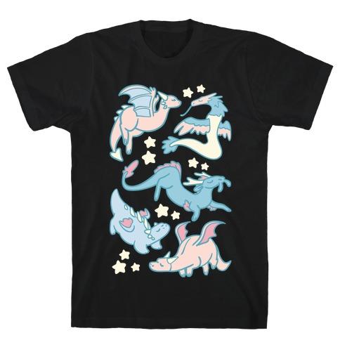 Dreamy Dragon Pattern T-Shirt