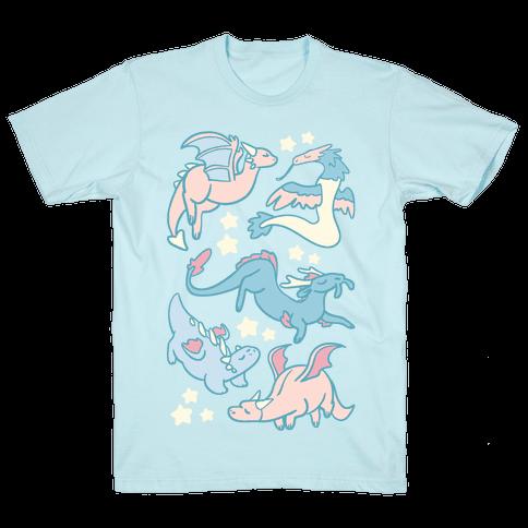 Dreamy Dragon Pattern Mens T-Shirt