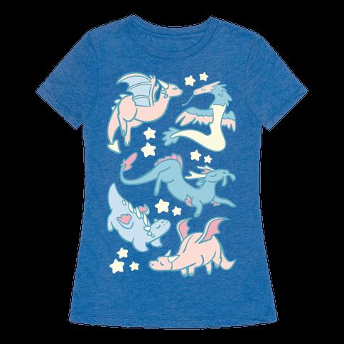 Dreamy Dragon Pattern Womens T-Shirt