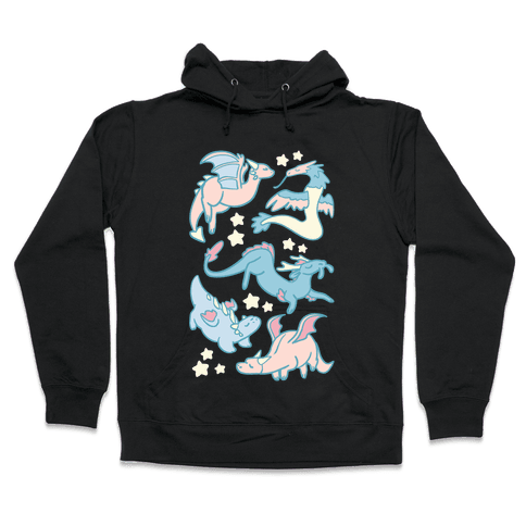 Dreamy Dragon Pattern Hooded Sweatshirt