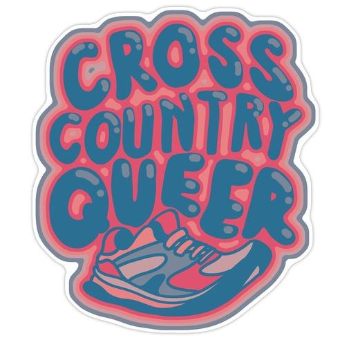 Cross Country Queer Die Cut Sticker