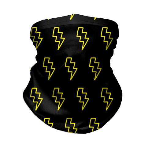 Lightning Bolt Pattern Neck Gaiter