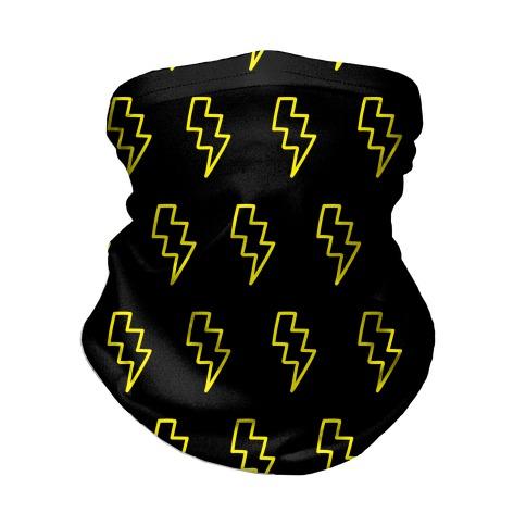 Lightning Bolt Pattern Neck Gaiter