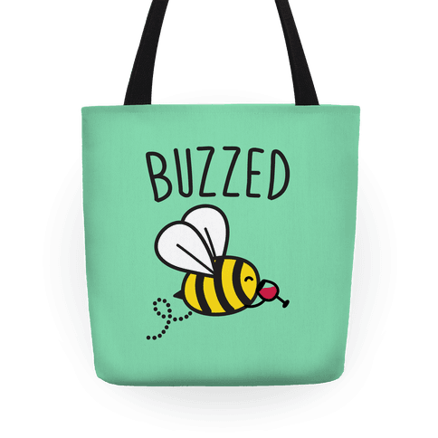 Buzzed Wine Bee Tote