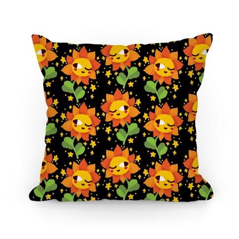 Winky Flower Pattern Pillow