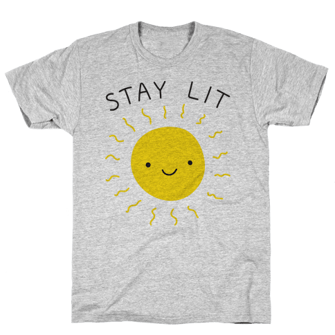 Stay Lit Sun Mens T-Shirt