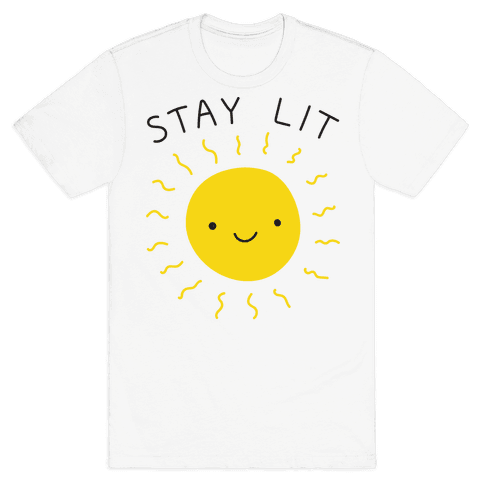 Stay Lit Sun Mens T-Shirt